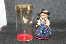 Vintage Plastic German Doll Traditional Drundle Attire Sleepy Eyes In Package