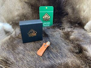 PUMA Stag Miniature White Hunter Knife & Leather Sheath In Factory Box Mint +++
