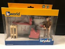 Bruder #62210 UPS Walking Hand Cart, Pallets & Figure - Open Box Never Used