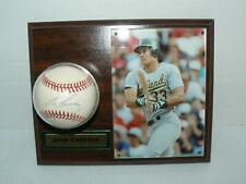 Jose Canseco Autograph Rawlings American League Baseball & Photo Plaque