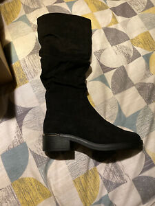 womens black knee high boots size 6