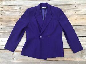 Kasper and Co. Women Blazer Double Breasted One Button Coat Purple Size 10P