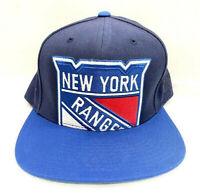 New York Rangers Blue Wool Mitchell & Ness NHL Retro XL Logo Snapback Hat Cap