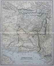 AFGHANISTAN / PAKISTAN. Lithographische Landkarte von 1890