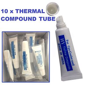 10 x Thermal Grease Paste Compound Tube PC CPU Processor Heatsink Cooling
