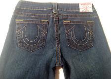 EUC - RRP$479- Womens Stunning True Religion Brand Stretch 'CLAIRE' Indigo Jeans