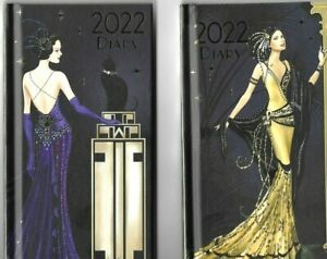 2022 ART DECO CLAIRE COXON SLIM AND A5 DIARYS AND CALENDERS ROBERT FREDERICK