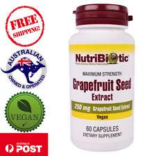 NutriBiotic Grapefruit Seed Extract 250mg 60 Vegan Capsules for Maximum Strength