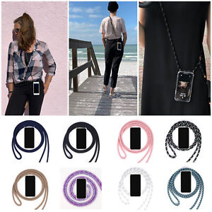 Soft Clear Phone Case+2 Lanyard Crossbody Cover for Samsung iPhone12 Pro/11/XS/8