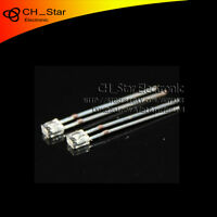 100pcs 2x3x4mm Square LED Diodes Water Clear Warm White Light Rectangular