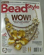 BEAD STYLE MAGAZINE Make Jewelry September 2010 Trendy Metal Necklace Color