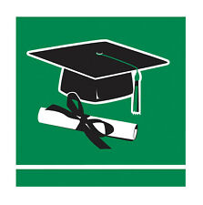 Graduation Beverage Napkins Green 36ct Decoration Favor Party Supplies