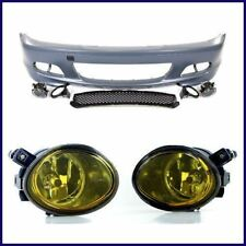 BMW E46 MTECH M TECH STYLE FRONT BUMPER W/ YELLOW FOG LIGHTS 2000-2006 COUPES