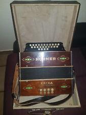 Hohner Erica club-Modèle Bouton accordéon très rare