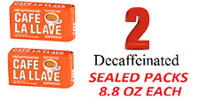 2 BAGS of CAFE LA LLAVE decaf ESPRESSO COFFEE best price cafe cubano no cafeina