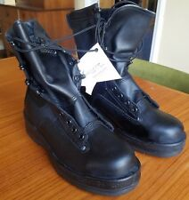 Black Wellco Navy Style #1003 Steel Toe Safety Flight Deck Boots Size 5R Vibram