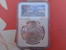 2015 1.25 oz. Canada Bison $8 silver coin NGC MS69 ER .9999 ultra fine silver