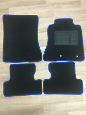 Car Floor Mats Custom Made Front & Rear w/Blue Edging - Ford Mustang: 2015-ON