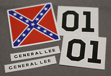 Mego The Dukes Of Hazzard GENERAL LEE Car Reproduction Stickers / Decal Set