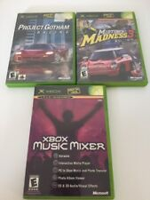 Lot of 3 Original XBOX Games Project Gotham Music Mixer Midtown Madness 3