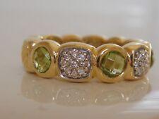 $2250 DAVID YURMAN CAPRI 18K GOLD PERIDOT DIAMOND RING