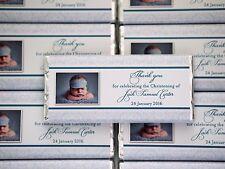 Personalised Chocolate Baby Christening Baptism Kids Birthday MUST ORDER 20+