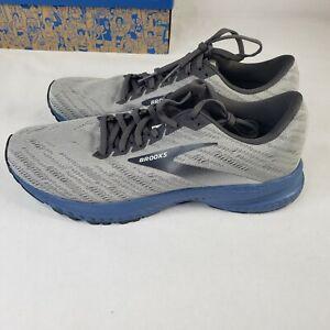 NIB Brooks Launch 7 1103241D092 Running Shoes - Men's Size 10.5, Gray & Blue Box