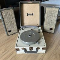 VTG Columbia PH-7014 Phonograph/Record Player + 2 Speakers 1960's UNTESTED As Is