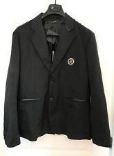 VERSACE Black, Baroque, Medusa on Chest, Blazer, Sport Coat Size 54 New w/ Tags