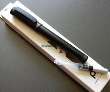 Fountain pen Metallic Black. Medium nib. Converter & Cart included. Boxed.