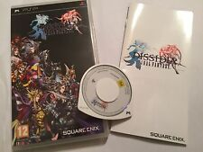 SONY PSP PORTABLE PLAYSTATION juego Dissidia Final Fantasy + Caja Instru's completa