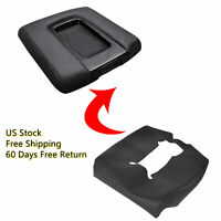 For 14-19 Chevrolet Silverado Synthetic Leather Console Lid Armrest Cover Black