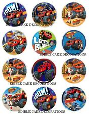 24 x Blaze and monster machines Cupcake Fairy Cake Toppers Edible Rice Paper