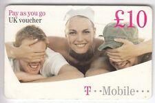 EUROPE  TELECARTE / PHONECARD .. U.K 10£ T-MOBILE VOUCHER FILLE SEXY EM +N°