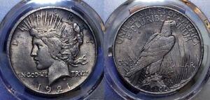 1921 High Relief Peace Silver Dollar PCGS AU 58