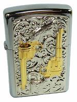 Zippo Golden Revolver limited Edition Emblem 2004002 xxxx/1000  stiftvergoldet