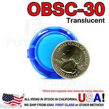 Sanwa Original OBSC-30 Blue Translucent Push Button JAMMA guitar killswitch