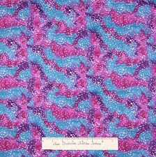 Tonal Fabric - Grape Purple & Blue Dot Camouflage - Springs Cotton YARD