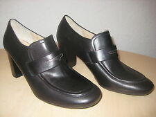Amalfi by Rangoni Shoes Size 6 M Womens New Keira Black Leather Loafer Pumps