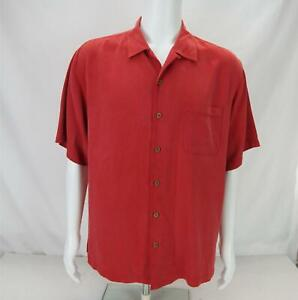 Tommy Bahama Short Sleeve Button Up Shirt Red Men's L