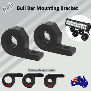 "Pair 0.75/1/1.25"" Bullbar Mounting Bracket Clamp 19-32mm LED Work Light Bar UHF"
