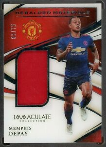 2020 PANINI IMMACULATE SOCCER MEMPHIS DEPAY JERSEY PATCH 69/75 MANCHESTER UNITED