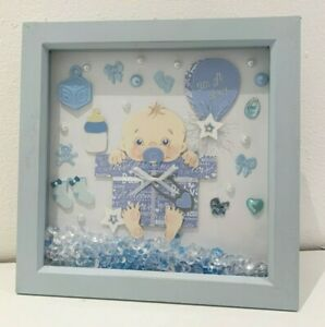 gorgeous blue framed gift for a new baby boy