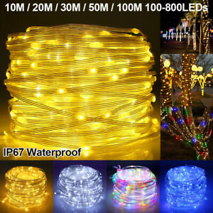 100-800 LED Mains Micro Rice Wire Fairy String Lights Party Outdoor Waterproof