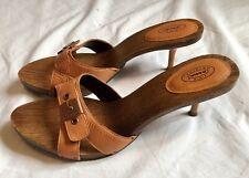 Dr. Scholls The Original Orange Wooden Sandal Heels Women's 9m