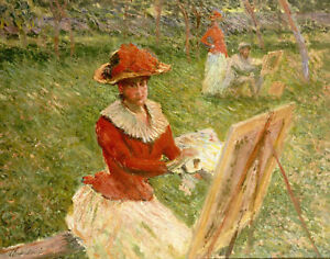 """CLAUDE MONET """"Blanche Hoschede Peignant"""" print NEW choose SIZE, from 55cm up"""