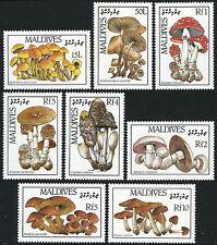 Maldives**MUSHROOMS-FUNGHI-8vals-1986-PADDESTOELEN-CHAMPIGNONS-PILZE-MNH