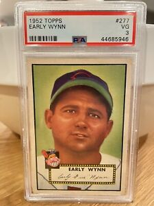 1952 Topps Early Wynn (HOF) #277 - PSA 3 VG