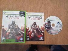 Assassin's Creed II (Microsoft Xbox 360, 2009) Complete CIB VG