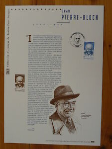 judaica Jean Pierre Bloch against racism FDC folder with engraving 2001-531